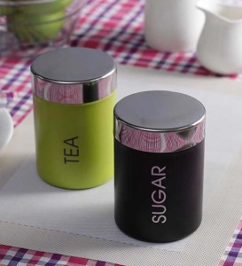 Paradise  - 500 ml Stainless Steel Tea, Coffee & Sugar Container