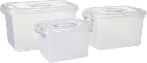 Howards Set of 3 Multipurpose Storage Box  - 6000 ml, 1000 ml, 2300 ml Plastic Food Storage