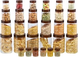 Steelo Steelo 30 pcs PET Container Set - 200ml x 6, 300ml x 6, 600ml x 6, 1200ml x 6, 2000ml x 6 (Solitaire)  - 200 ml, 300 ml, 600 ml Plastic Food Storage