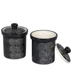 VarEesha Hand Made by skilled craftsmen  - 250 ml Stoneware Multi-purpose Storage Container