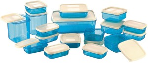 MasterCook 17 Pieces Blue  - 200 ml, 330 ml, 1630 ml, 150 ml, 500 ml, 700 ml Polypropylene Food Storage