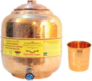 Indian Craft Villa  - 12300 ml Copper Multi-purpose Storage Container