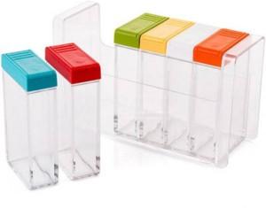 Kreativekudie condiment box,set of 6  - 0.5 dozen Plastic Spice Container