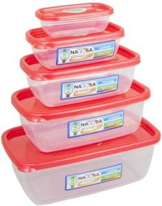 Nayasa Microwave Safe Size 0-4  - 300 ml, 680 ml, 1100 ml, 1800 ml, 150 ml Plastic Food Storage