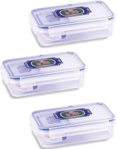 Lock & Fit  - 650 ml, 650 ml, 650 ml Plastic Food Storage