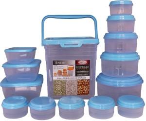 Asian Keep Fresh 14 Pc set  - 225 ml, 425 ml, 700 ml, 1150 ml, 1950 ml, 8000 ml, 1500 ml, 1000 ml, 500 ml Plastic Multi-purpose Storage Container
