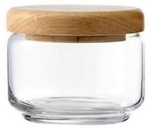 ivook Ocean 325ml Wooden Lid Jar  - 325 ml Glass Multi-purpose Storage Container