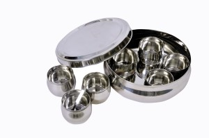 Dynore Belly Shaped Stainless Steel Spice Box Large  - 2000 ml Stainless Steel Food Storage