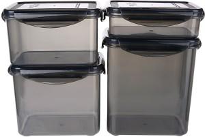 Bel Casa Lock & Store Rectangle  - 360 ml, 750 ml, 1000 ml, 1500 ml Polypropylene Multi-purpose Storage Container