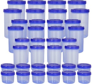 Bel Casa Bel Casa 36pcs Lock & Store Spin Container set  - 1400 ml, 1000 ml, 730 ml, 300 ml Plastic Grocery Container