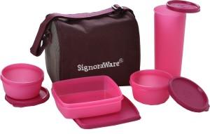 Signoraware Best Lunch Jumbo with Bag  - 500 ml, 350 ml, 200 ml Plastic Food Storage