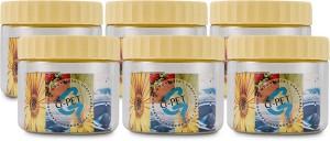 GPET Round Jar - Set Of 6  - 200 ml Plastic Food Storage