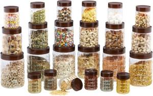 Steelo Steelo 24 pcs PET Container Set - 200ml x 6, 300ml x 6, 600ml x 6, 1200ml x 6 (Solitaire)  - 200 ml, 300 ml, 600 ml Plastic Food Storage