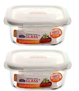 Lock & Lock Euro Square Bake and Store  - 750 ml Glass Food Storage