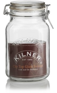 Kilner Cliptop Jar-Square  - 1500 ml Glass Food Storage