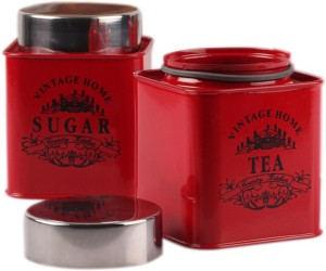 Dynore Square Half Deck  - 650 ml Stainless Steel Tea, Coffee & Sugar Container