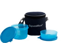 Signoraware Executive Small Lunch Box (With Bag)  - 180 ml, 450 ml Plastic Food Storage