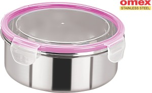 Omex Lock N Fit  - 2200 ml Stainless Steel Multi-purpose Storage Container