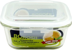 Borosil Microwavable Klip - N - Store  - 800 ml Glass Multi-purpose Storage Container