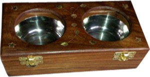 Huzain Handicrafts  - 200 ml Wooden, Steel, Glass Spice Container