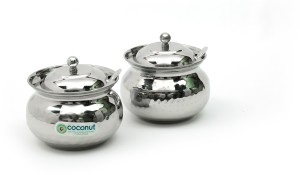 Coconut Hammered Ghee Pot  - 250 ml Stainless Steel Food Storage