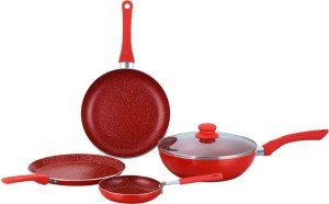 Wonderchef Wonderchef Royal Velvet Red Set of 4Pcs Cookware Set