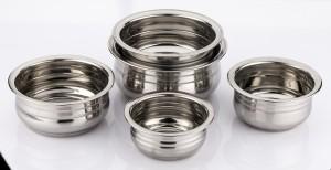 Mahavir Induction Base Flat Bottom Prabhu Chetty Cookware Set