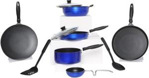 Apex Blue 10 Pcs Non-Stick Cookware Set