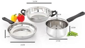 Mahavir 3pc Induction & Lpg Compatible Cookware Set