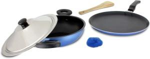 Mahavir Medium Induction and LPG Compatible Cookware Set