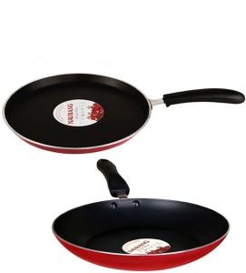 Navrang Cookware Non-Stick Dosa Tawa + Fry Pan Cookware Set