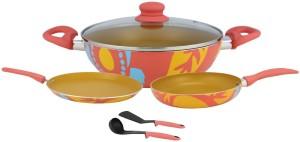 Wonderchef Carnation Non Stick(4pcs) Cookware Set
