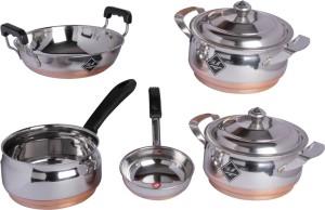 KCL Copper Bottom 7pc Cookware Set