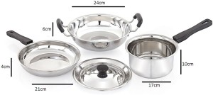 Mahavir 4pc Induction & Lpg Compatible Cookware Set