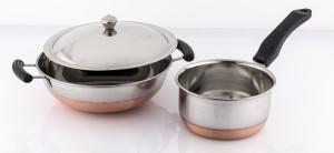 Mahavir Copper Bottom Lpg Compatible Cookware Set Cookware Set
