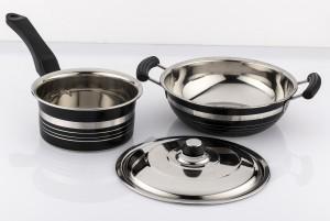 Mahavir Metallic Induction & Lpg Compatible Cookware Set
