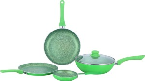 Wonderchef Royal Velvet Green Set of 4Pcs - Induction Base Cookware Set