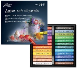 Mungyo Gallery Artists' Round Shaped Soft Oil Pastels Crayons
