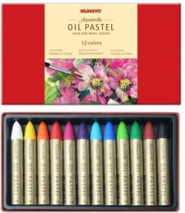 Mungyo Round Shaped Oil Pastels Washable Crayons