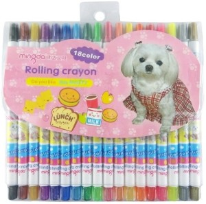 213c5bcd0 Mingda Round Shaped Plastic Crayons Set of 18 Multicolor Best Price ...