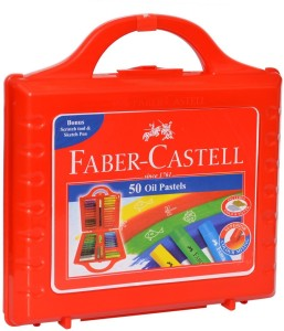 Faber Castell Round Shaped OIl Pastels Washable Crayon