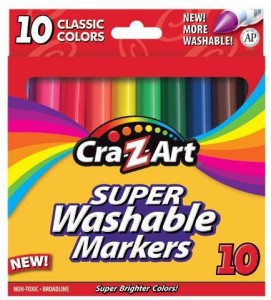 Cra-Z-Art Round Shaped Wax Crayon Washable Crayons
