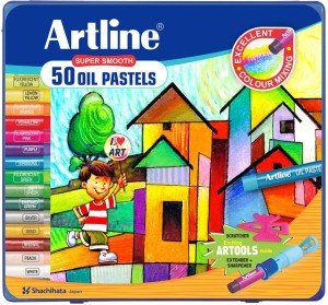 Artline Round Shaped Oil Pastel Washable Crayon