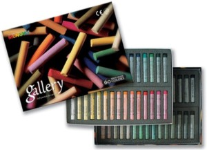 Mungyo Round Shaped Gallery Artists' Extra Fine Soft Pastels - Full size Washable Crayons