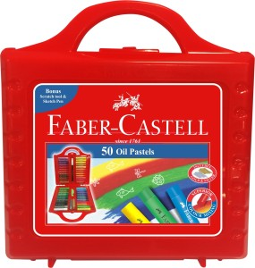 Faber-Castell Expressionist Round Shaped Oil Pastels Washable Crayons