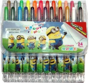 Zeyar Round Shaped Wax Rolling Style 24 Pcs Set Crayons