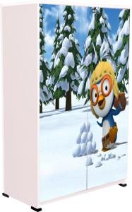 BigSmile Furniture BigSmile Kids Wardrobe - Snow Penguin Engineered Wood Cupboard