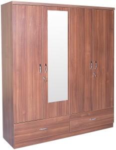 HomeTown Ultima 4 Door With Mirror Rwlnt Engineered Wood Almirah
