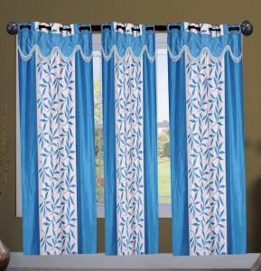 New Ladies Zone Polyester Dark Blue Floral Curtain Door Curtain