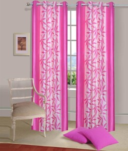 New Ladies Zone Polyester Pink Floral Curtain Door Curtain